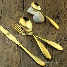 Gold Plated Stainless Steel Dinnerware Tableware Cutlery Flatware Sets