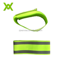 Night Security Fabric Knitted Elastic Strap Reflective Wrist Band With Heat Transfer Tape