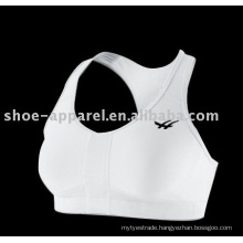 2014 Custom white color sports bra,running bra wholesale