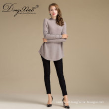 New Arrived Cheap Ladies Fashion Round Collar Long Sleeve Pullover Cashmere Sweater