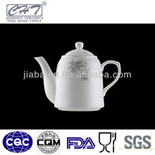 A004 Top sale white fine bone china ceramic arabic coffee pot