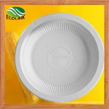 8 Inch Disposable Cutlery Cornstarch Plate