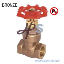 Válvula de porta sem chumbo material do bronze da carcaça NSF
