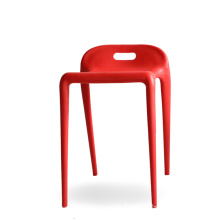 Lågryggbar ABS Stackable Plastic Dining Chair