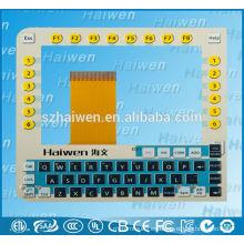 Emboss lcd display PC conmutador de teclado de membrana
