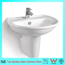Half Pedestal Hand Washing Wall-Hung Basin for North American Market
