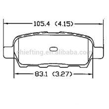 Fronts brake D905 55810-79J00 for Fiat remsa brake pads