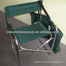 Lightweight aluminum director chair with convenient carry bag