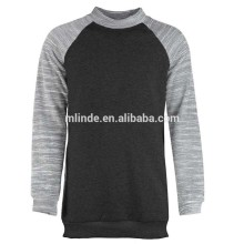 OEM Mens Clothing Sweatshirt Pullover Longline High Neck Raglan Sleeves Latest Sweater Designs For Men