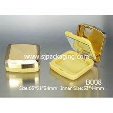 Желтый простой компактный контейнер с порошком