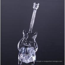 Рука прессованные Стеклянная гитара формы декоративные изделия из стекла