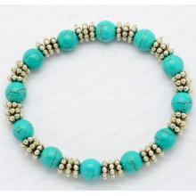 Bracelet en alliage turquoise pour la vente en gros de produits de mode