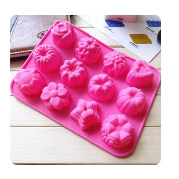 12 cavities Cupcake Silicone Jelly Tray Soap Mold