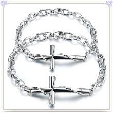 Pulseira de jóias de aço inoxidável jóias identificação bracelete (hc285)