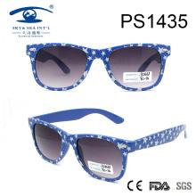 Классический стиль Spot Pattern Sky Blue Frame ПК Солнцезащитные очки (PS1435)