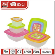 Plastic Square Food Container 0.2L/0.6L/1.3L(3pcs)