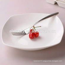 ceramic white square plate for hotel