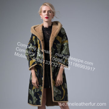 Mink Women Reversible Coat In Winter