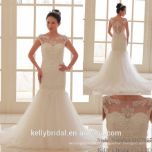 2017 novo decote clássico de barco com contas de noiva vestido vestido de noiva