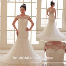 2017 новый классический лодка декольте бисером аппликация невесты вырос мяч свадебные платья