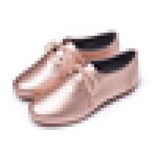 Самая последняя модель зашнуруйте вверх ботинки Loafer повелительницы плоская ботинок платья пятки