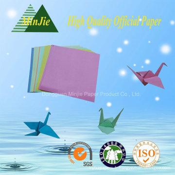 Art Folding Handmake Folded Square Shape Papier couleur Origami