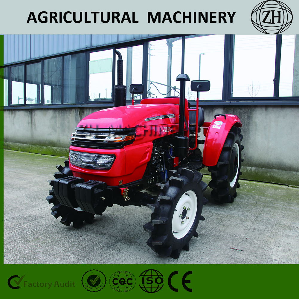 Customize 4WD Tractor with 35HP in Red Color