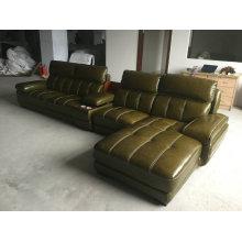 Sofá moderno, sofá seccional, muebles caseros, sofá (A848) de cuero