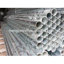 BS1387 Tubo de acero galvanizado medio ERW