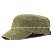 100%Cotton Fashion Destory Washed Army Hat