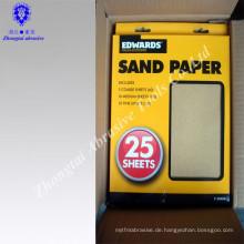 Umweltfreundliches Quarz-hölzernes Sand-Papier-Schleifpapier für das Polnischholz