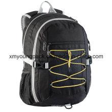 Preto leve leve saco versátil mochila para a escola