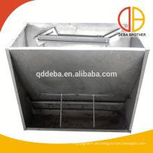 Canales de alimentación de acero inoxidable