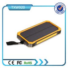 5V 2A entrada Dual USB Portas Solar Power Bank