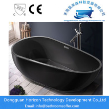 Black whirlpool vrijstaande tub spa tub