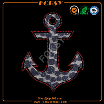 Anchor lace rhinestone heat transfers wholesale