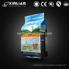 Embalaje de la litera de gato Uso de bolsas de fondo cuadrado, bolsa de embalaje de alimentos para mascotas
