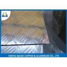 Placa antideslizante de aluminio 5052 5051 5154 525083 Cinco barras para la estación de autobuses