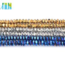 # 5040 Nouveau cristal à facettes Rondelle verre 8mm perles U choisir couleurs