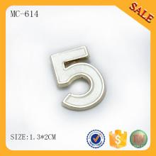 MC614 Цветной пользовательский металлический тег для одежды