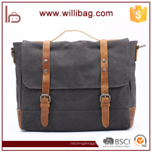 China Factory Wholesale Large Capacity Canvas Handbags Leather Messenger Bags
