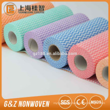 Nonwoven transversal do spunlace para viscosidade seca das limpezas e poliéster
