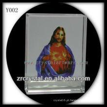 Cristal de impressão colorido religiosoRetrato Y002