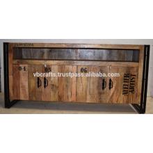 Mueble de metal industrial de madera