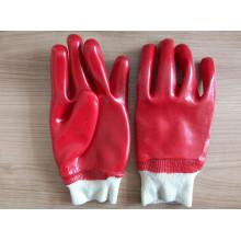 Algodón Interlock PVC guante de trabajo recubierto (P9002)
