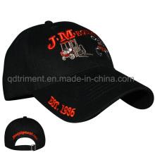 Heavy cepillado algodón sarga bordado personalizado de gorra de béisbol (TMB6176)