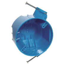 4-дюймовая потолочная коробка, круглая, из ПВХ, круглая розеточная коробка для работы с гвоздями, синий, главный электрический выключатель B520AR-UPC