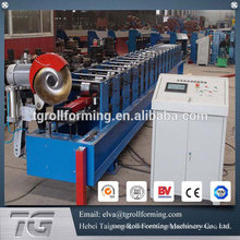 High efficiency downspout roll forming machine