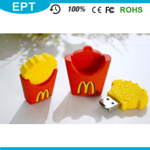 Batatas fritas do PVC Forma USB Pen Drive Flash (TG035)