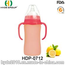 Bouteille en plastique de alimentation de bébé de catégorie comestible sans BPA (HDP-0712)